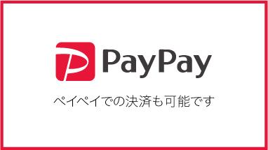 PayPay ペイペイでの決済も可能です